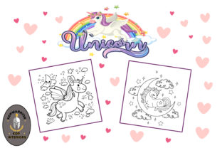 Unicorn Coloring Book for Kids - KDP Graphic Coloring Pages & Books Kids By KDP-WARRIOR