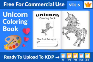 Unicorn Coloring Page KDP Interior Vol 6 Graphic KDP Interiors By Md Abu Saeid