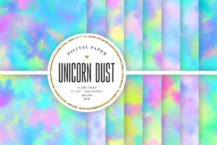 Print on Demand: Unicorn Dust Backgrounds Graphic Backgrounds By Sabina Leja