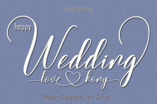 Print on Demand: Wedding Manuscrita Fuente Por parawtype