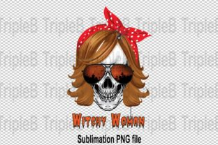 Print on Demand: Witchy Woman with Bandana Sublimation Graphic Illustrations By TripleBcraft