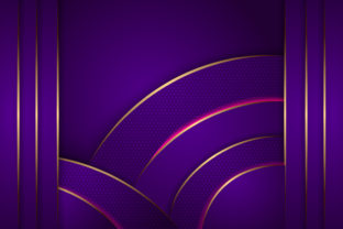 Print on Demand: Purple Gold Hexagon Background Graphic Backgrounds By noory.shopper
