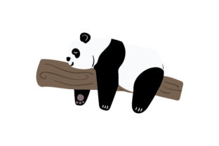 Lazy Panda Animals Craft Cut File By Creative Fabrica Crafts