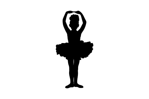 Silhouette of a Child Ballerina Designs & Drawings Craft Cut File By Creative Fabrica Crafts