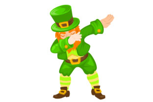 Leprechaun Dabbing Designs & Drawings Craft Cut File By Creative Fabrica Crafts