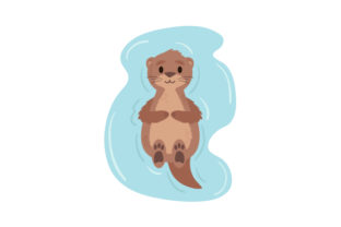 Baby Sea Otter Floating Animals Craft Cut File By Creative Fabrica Crafts