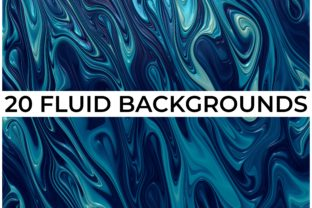 Print on Demand: 20 FLUID BACKGROUNDS Graphic Backgrounds By CahKlirong Designs