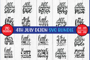 Print on Demand: 4th of July SVG Bundle Graphic Graphic Templates By BDB_Graphics