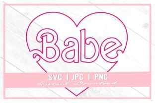 Print on Demand: 90s Babe Doll Heart Bachelorette Graphic Illustrations By thecouturekitten