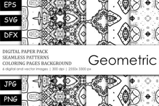Print on Demand: Abstract Coloring Book Geometric Graphic Coloring Pages & Books By stanosh