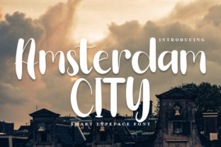 Print on Demand: Amsterdam City Script & Handwritten Font By FreshTypeINK
