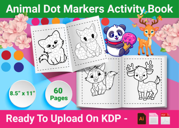 Print on Demand: Animal Dot Markers Activity Book Grafik KPD Innenseiten von Creative Designer