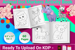 Print on Demand: Animal Dot Markers Activity Book Graphic KDP Interiors By Creative Designer