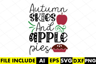 Autumn Skies and Apple Pies Graphic Crafts By Crafthill260