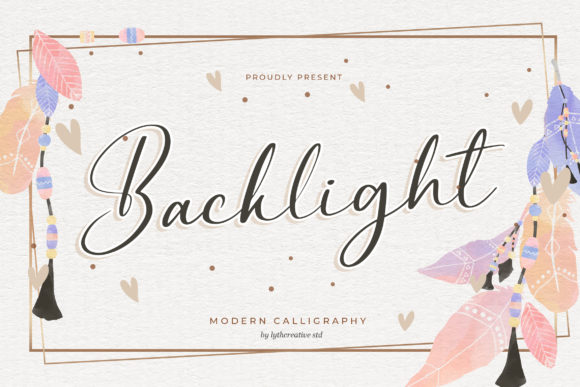 Print on Demand: Backlight Script & Handwritten Font By lyanatha