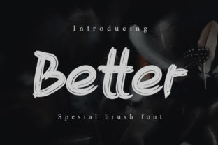 Print on Demand: Better Display Font By Slenting Art 1