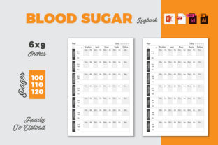 Blood Sugar Logbook | KDP Interior Graphic KDP Interiors By iCreativee