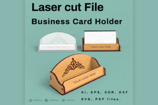 Print on Demand: Business Card Holder Graphic 3D SVG By tofigh4lang