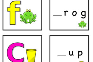 CVC Words - Matching Cards! Graphic K By Lory's Kindergarten Resources!