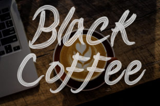 Print on Demand: Coffee Display Font By Slenting Art 2