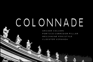 Print on Demand: Colonnade Sans Serif Font By K26Fonts