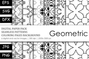 Print on Demand: Coloring Book Seamless Patten Packages Graphic Backgrounds By stanosh