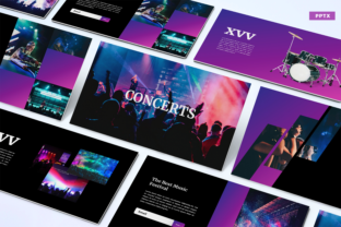 Concerts - PowerPoint Template Graphic Presentation Templates By Unicode Studio