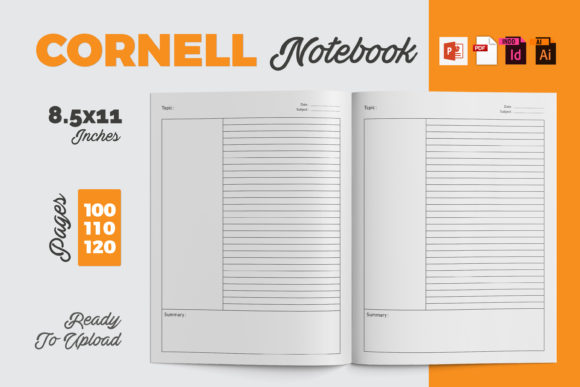 Cornell Notebook | KDP Interior Graphic KDP Interiors By iCreativee