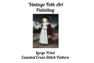 Print on Demand: Counted Cross Stitch Pattern: Folk Art Graphic Patterns By Scrapbook Attic Studio