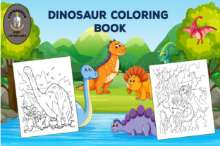 Dinosaur Coloring Book for Kids for KDP Graphic Coloring Pages & Books Kids By KDP-WARRIOR