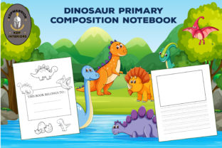 Dinosaur Primary Composition Notebook Graphic KDP Interiors By KDP-WARRIOR