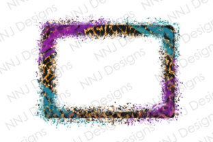 Print on Demand: Distressed Leopard Frame Sublimation Graphic Illustrations By NNJ Designs