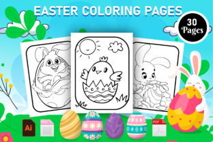Print on Demand: Easter Coloring Book - KDP Interior Graphic KDP Interiors By Creative Designer