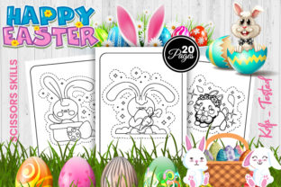 Print on Demand: Easter Scissors Skills  Pages - KDP Graphic Coloring Pages & Books Kids By Trend Color