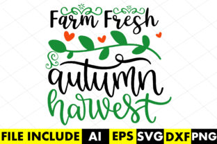 Farm Fresh Autumn Harvest Graphic Crafts By Crafthill260