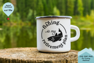 Print on Demand: Fishing is My Retirement Plan SVG, Funny Graphic Crafts By Lettershapes