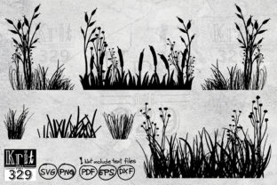 Flower Grass SVG Graphic Crafts By Krit-Studio329