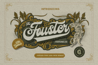 Print on Demand: Fouster Display Font By ramandhaninugraha