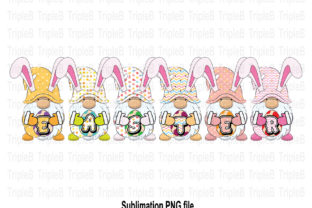 Print on Demand: Gnome Bunny Easter Sublimation Designs Graphic Illustrations By TripleBcraft