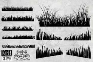 Grass SVG Graphic Crafts By Krit-Studio329
