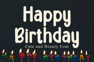 Print on Demand: Happy Birthday Display Font By FL Space