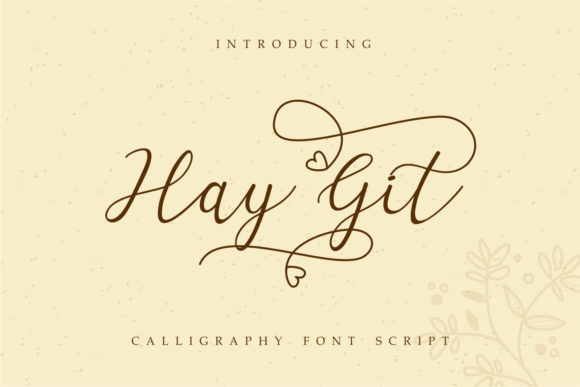 Print on Demand: Hay Git Script & Handwritten Font By Typescroll