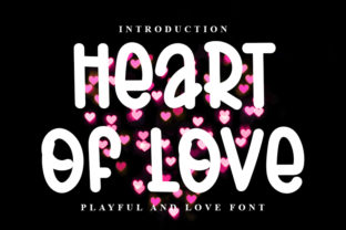 Print on Demand: Heart of Love Display Font By FL Space