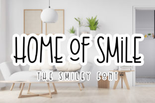 Print on Demand: Home of Smile Display Font By Abodaniel