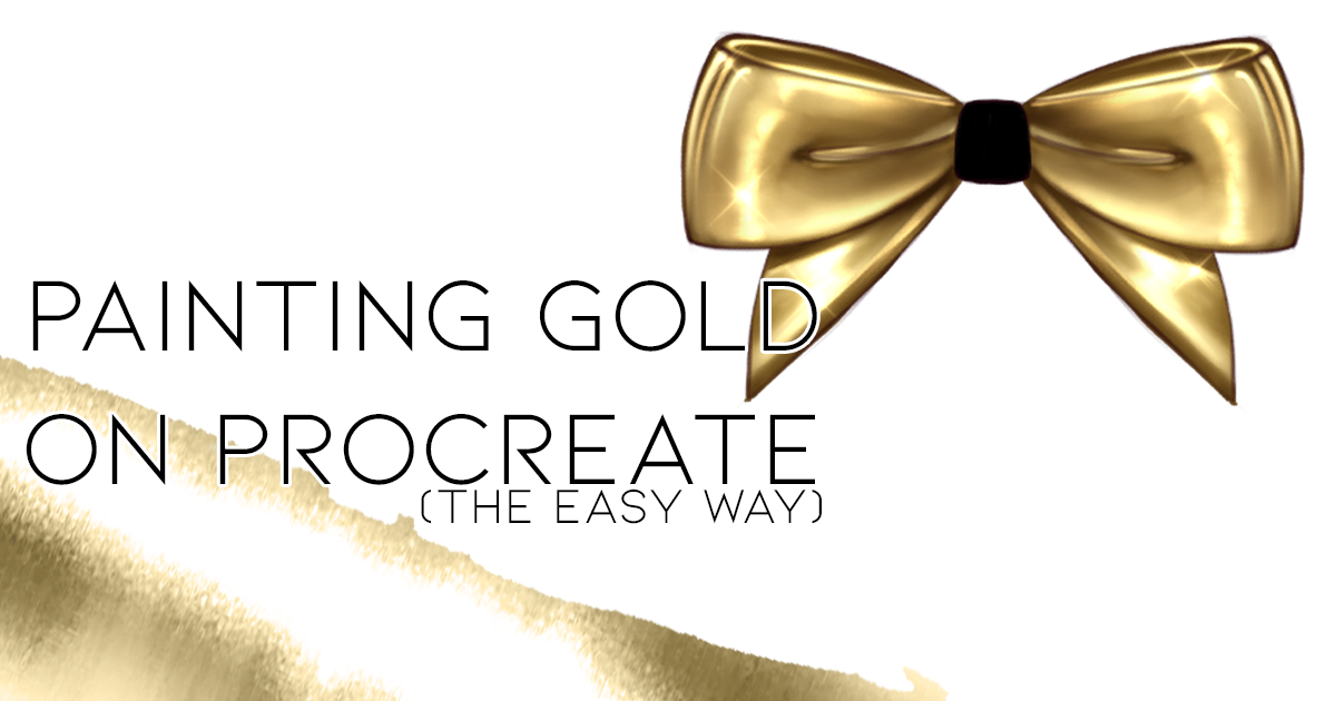 How to Create Gold Metal Texture Illustrations in Procreate