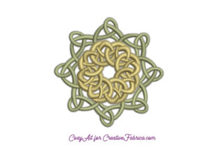 Infinity Knot - Celtic Mandala Mandala Embroidery Design By CozyAit