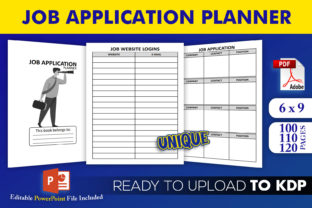 Print on Demand: Job Application Planner Log KDP Interior Graphic KDP Interiors By Beast Designer