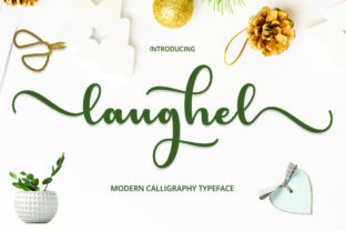Print on Demand: Laughel Script & Handwritten Font By Cut Story