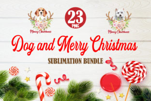 Print on Demand: Merry Christmas Dog Bundle Sublimation Graphic Crafts By TripleBcraft