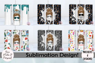 Print on Demand: Messy Bun Designs for Sublimation Graphic Print Templates By You Make It Personal